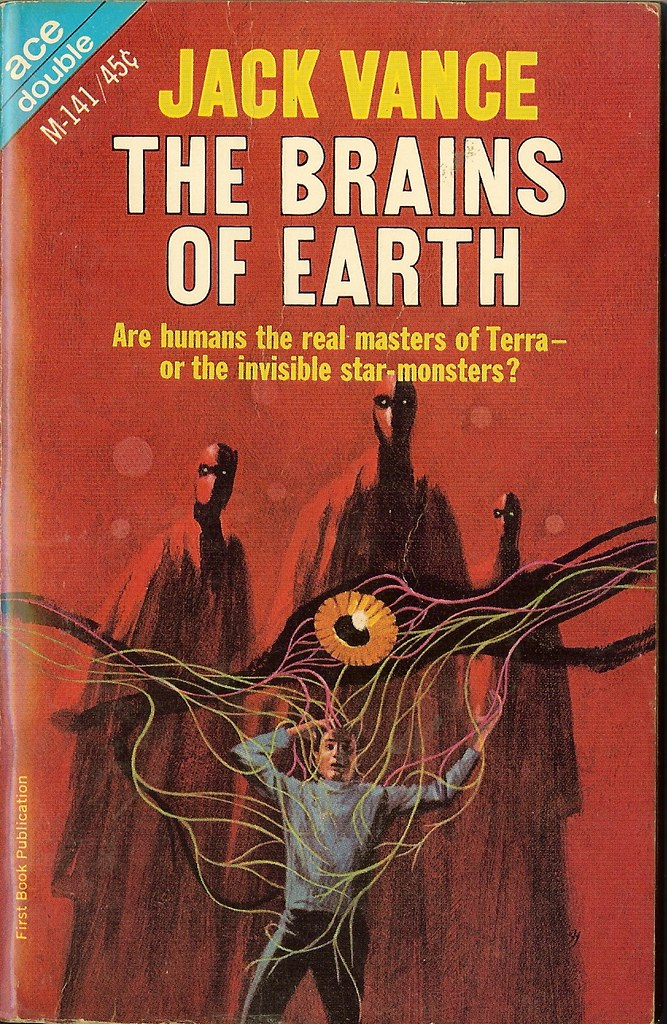 Jack Gaughan - Cover Illustration For Jack Vance - Brains of Earth, 1966