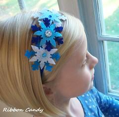 Snowflake Sparkle Headband (Ribbon Candy) Tags: snowflake christmas blue winter girls holiday glitter style felt sparkle boutique childrens etsy rhinestone hannukah newdesign