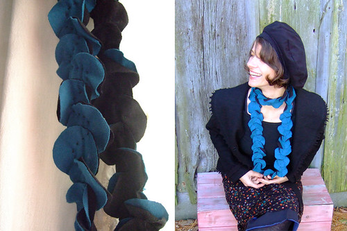 tutorial: the very easy petal scarf