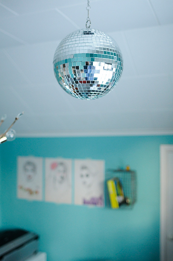 Disco dancing in the home office
