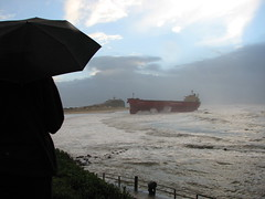 Pasha Bulker (leeshpix) Tags: newcastle flood nobbysbeach beachedship