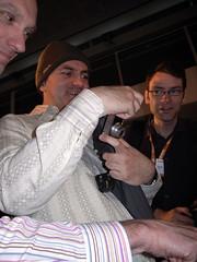 Joe Clark amazed (david roessli) Tags: london joeclark islington 2007 ricohgrd businessdesigncenter atmedia2007 upcoming:event=110091 flickrar