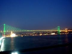 Boğaz Köprüsü (tugcegumus) Tags: blue light sea sky night turkey türkiye olympus istanbul İstanbul deniz mavi bosphorus boğaz gökyüzü gece ışık boğazköprüsü bosphorusbridge gök mju750