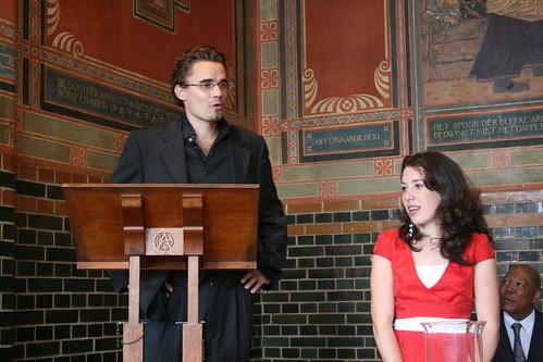 Maina introducing De Burcht, Catherine translating