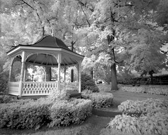 penn park gazebo (snapstill studio) Tags: park summer ir pennsylvania michigan gazebo infrared petoskey
