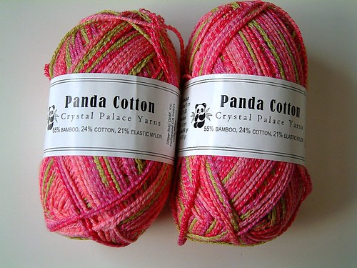 Panda Cotton- Strawberry and Lime