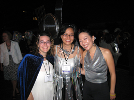 Sara Wilson Etienne, Linda Sue Park, and me, at the By the Light of the Silvery Moon gala