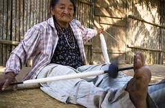 Spinning Thread (GitanoLatino) Tags: thread amazon village grandmother selva culture bolivia jungle asuncion abuelita cultura indigenous amazonas aldea indigena