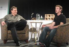 Mike & Zuck @ TechCrunch40 (Sept 2007)