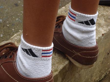 Calcetines con la bandera de Cuba