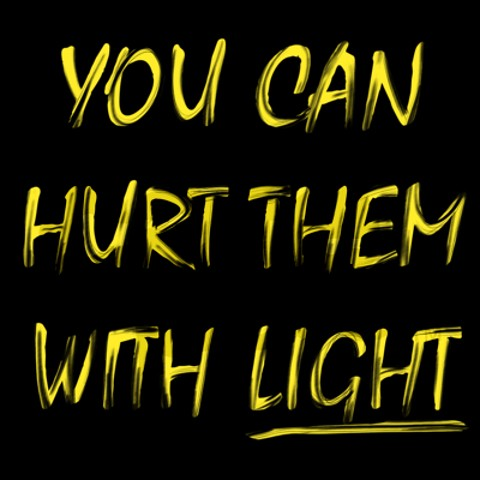 hurt them with light t-shirt