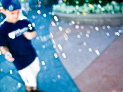 Bubble Bokeh? (snaphappygeek) Tags: blur photoshop canon point kid orlando shoot bokeh bubbles powershot adobe fl 20 compact advanced lightroom sx superzoon wdw2parks