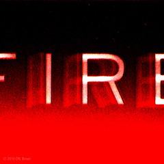 FIRE (CMLBrown) Tags: red white black alarm square fire firealarm pointandshoot fade oneword squarephoto blockletters squarepicture singleword handblur canonpowershotsx200is cmlbrown facebookcomphotosbycmlbrown