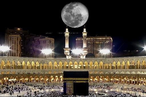 القمر يتعامد الكعبة ظاهرة فلكية