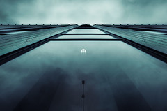 Visions (Mikko Lagerstedt) Tags: street blue light shadow cloud color reflection building colors architecture night clouds buildings reflections suomi finland dark tile lens landscape photography lights visions photo nikon mood different