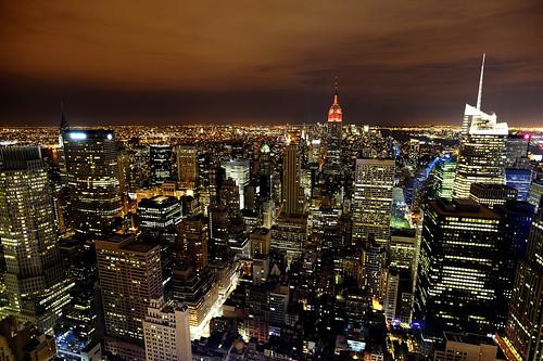 City lights...