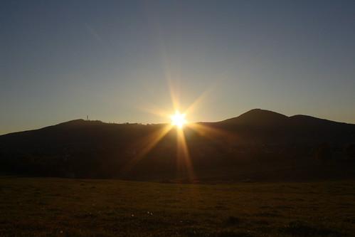 Sonnenuntergang hinter dem Bärenberg