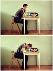 [41/52] Don't talk to me until I've had my coffee (juicowski) Tags: portrait selfportrait coffee self table diptych weeks 52 52weeks