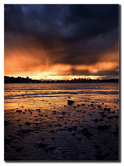 A firey winter sunset (markdanielowen) Tags: winter sunset reflection water rose clouds canon photography bay harbor interestingness bravo rocks sundown harbour mark sydney explore owen sydneyharbor sydneyharbour markowen rosebay dramaticclouds anawesomeshot goldenphotographer markdanielowen excellentphotographerawards markowenphotography