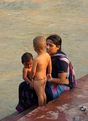 Last minute bathing lessons..!! (Saurabh Makkar) Tags: family india heritage kids river nude religious child mother places holy uttaranchal bathing hindu motherchild ganga ganges haridwar saurabh mythological makkar harkipowri saurabhmakkar hindufamily