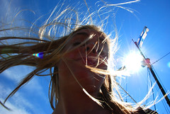 Swirly Katie (Y3MBailey) Tags: summer up contrast finland high helsinki close wind action flag highcontrast swirl breeze soumi sexu