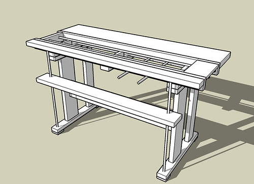 Rendering of bench design