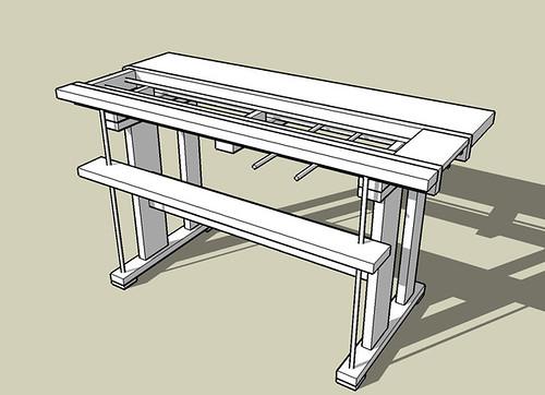 Rendering of bench design