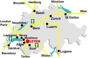 map Leysin
