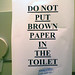 [mobile] No Brown Paper in the Toilet