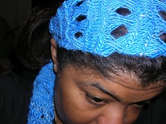 Dream swatch wrap on my head