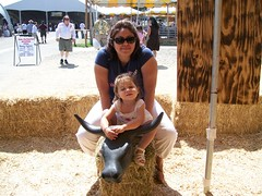 me and serena ride the bull of hay