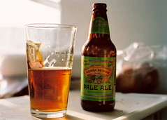 Thirst Quencher (arohilla) Tags: slr beer glass bottle 55mm alcohol filmcamera pint sierranevada paleale canonftb