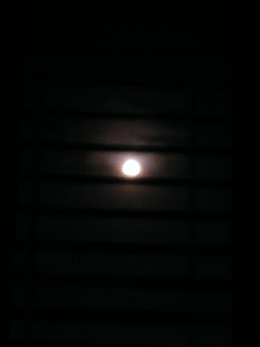 Moon thru blinds