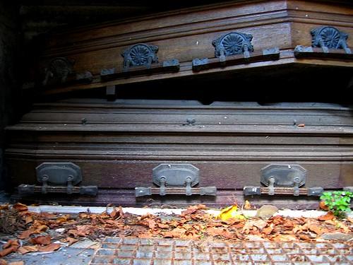 Coffins at La Recoleta Cemetery in Buenos Aires, Argentina.