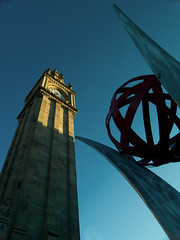 Queen's Square (redRob13) Tags: ireland europe belfast clocktower leaning crooked queenssquare albertmemorialclock weenorth