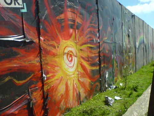 Our wall artwork at Big Green Gathering (Sun)