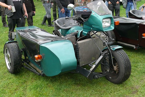 Custom Motorbike with sidecar, made out of a Ford Escort 1