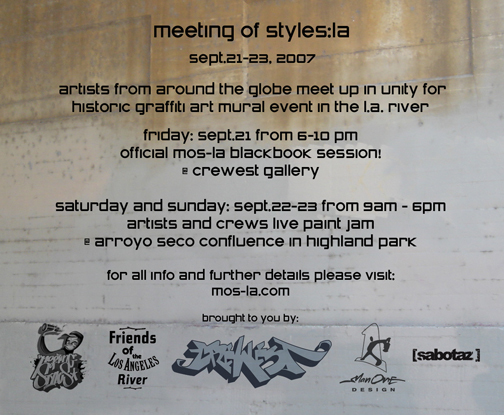 Sept 21 - 23 ~ Meeting of Styles: LA