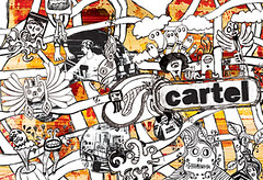cartel monsters (CARTEL GRAPHICS) Tags: people art illustration chaos arte drawing caos monsters colagem creatures desenho ilustracion cartel