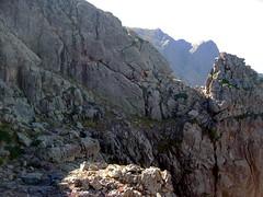 Depuis la plate-forme versant Scaffone : le 2ème V versant Campu Razzinu Ouest