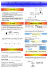 RANLP poster: From Use Cases to UML Class Diagrams using Logic Grammars and Constraints