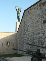 Mont Gellert : Statue de la Libert 5 (lizardking_cda) Tags: monument statue canon liberty hungary budapest mount libert weapon cannon mont gellert citadella hongrie