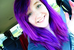 gotta get that purple hair (Jessie Braun) Tags: girl hair real punk purple awesome