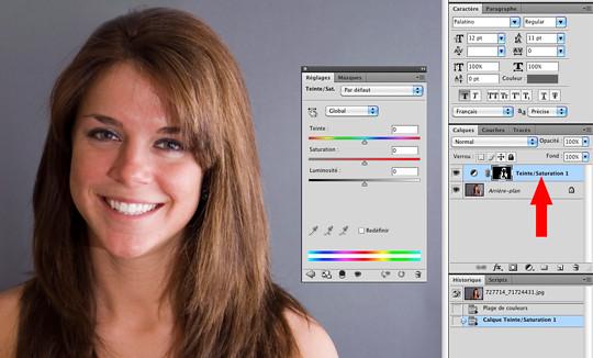 Modifier coupe de cheveux photoshop