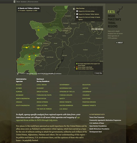 Inside Pakistan's Tribal Regions, a look at the front landing page