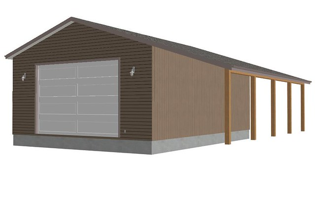 RV Garage Apartment Building Plans with Additional Standard 2 Bay