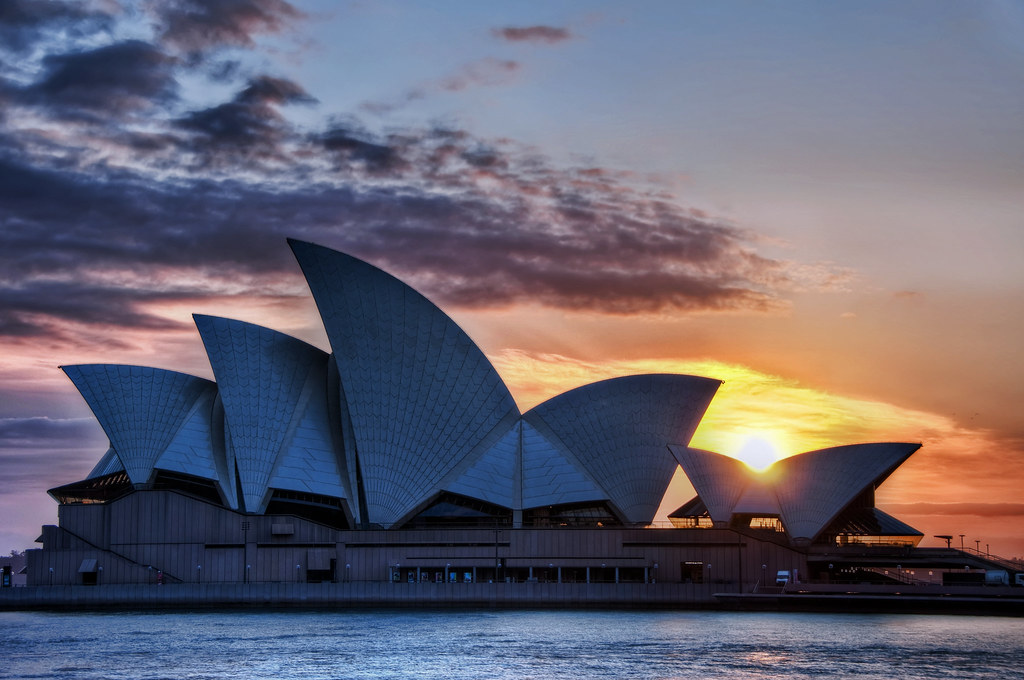 Sunrise Over An Aussie Icon