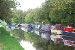 Leeds/Liverpool Canal (near Bingley) (Halliwell_Michael ## Thanks you for your visits #) Tags: autumn reflection canals westyorkshire 2010 barges leedsliverpoolcanal nikond40x spiritofphotography
