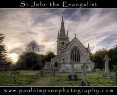St John's, Perlethorpe (Paul Simpson Photography) Tags: uk england church fence gate seat headstone headstones stjohns graves steeple spire sherwoodforest hdr nottinghamshire churchspire churchwindow stjohntheevangelist churchgate eastmidlands churchseat churchphotos perlethorpe nottinghamshirechurches thoresbyestate photosofchurches paulsimpsonphotography