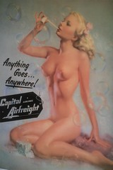 Anything goes anywhere...! -copyrighted- (CSC - Chistopher Scott) Tags: old girl vintage nude ad bubbles blonde